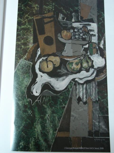"""행복한그림!  조르주 브라크의 """"과일그릇과 식탁보 위의 과일 ..."""